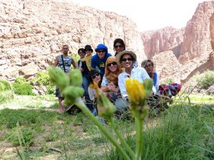 Tour group while backpacking Morocco