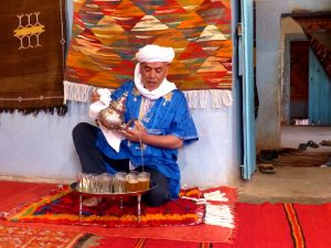 Drinking tea in Morocco
