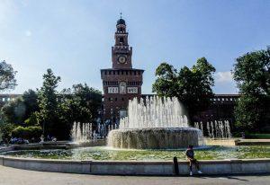 Sehenswürdigkeiten in Mailand: Brunnen