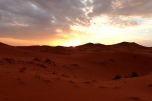 Sonnenaufgang in der Sahara in Marokko