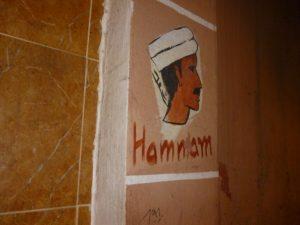 Eingangstür zu einem traditionellen Hamman