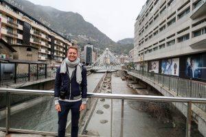 Ich im Zentrum von Andorra