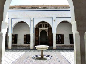 Im sehenswerten Bahia Palast in Marrakesch