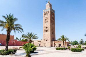 Der Moschee Turm als eine der Marrakesch Sehenswürdigkeiten