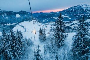 Sonnenaufgang in der Skiwelt Wilder Kaiser