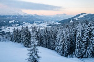 Blick auf das Skigebiet Wilder Kaiser