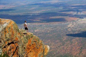Auf dem Felsen in Kenia