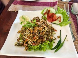 dish tea leaf salad