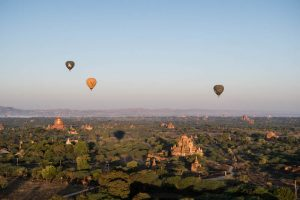 Mit dem Ballon in Bagan Myanmar