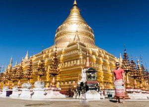 Sehenswerte Goldene Pagode in Bagan