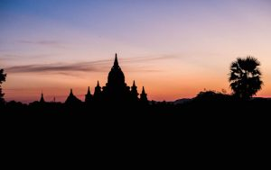 Toller Himmel in Bagan