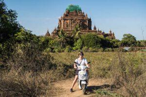 Auf dem ebike in Bagan