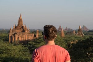 Blick auf die Bagan Tempelanlage