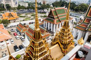 View from the temples while backpacking Bangkok