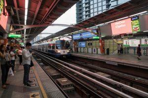 Using the skytrain in Bangkok