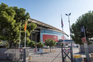 Das berühmte Camp Nou Fußballstadion