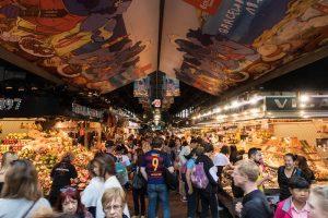 Barcelona Sehenswürdigkeiten: Mercat de la Boqueria Essensmarkt