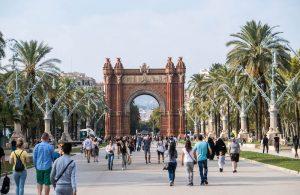 Der sehenswerte Arc de Triomf in Barcelona