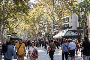 Die La Rambla Straße Barcelona