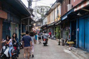 Straßen in Chanthaburis Altstadt