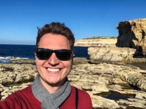 Azure window of Gozo selfie