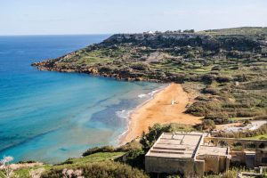 Beach in Gozo, Malta