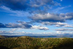 Blick auf den Himmel in Kenia