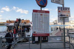 Schedule of the ferries in malta