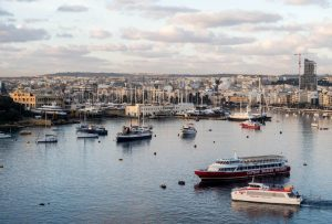 The harbor of Sliema in malta