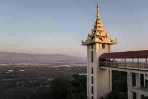 Blick auf Mandalay Myanmar