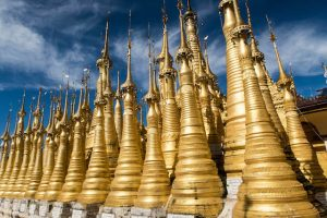 Visiting the Indein stupas