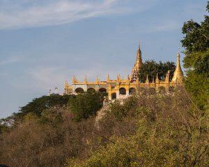 Tempel auf dem Mandalay Hill in Myanmar