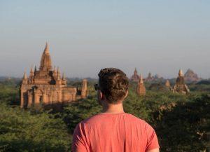 Blick auf Bagan Myanmar
