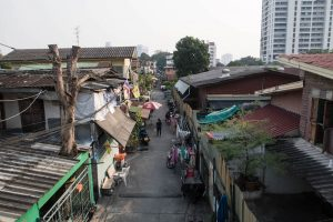 Streets and houses in Bangkok