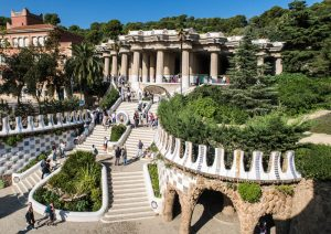 Blick auf Park Güell in Barcelona