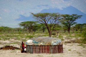 Hütte im entlegenen Norden Kenias