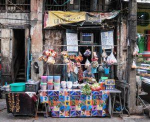 Yangon Straßenstand