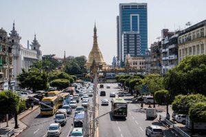 Sehenswerte Sule Pagode in Yangon Myanmar