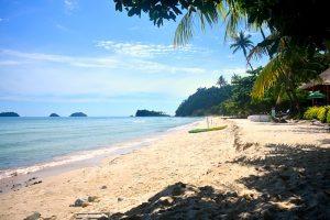 Lonely beach when island hopping around Thailand