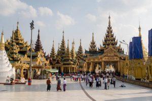 Shwedagon Pagoda while backpacking Yangon
