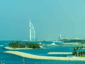 Blick auf das Burj Al Arab Hotel
