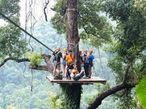 Ziplining when backpacking Chiang Mai