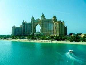 Blick auf das Atlantis Hotel Dubai