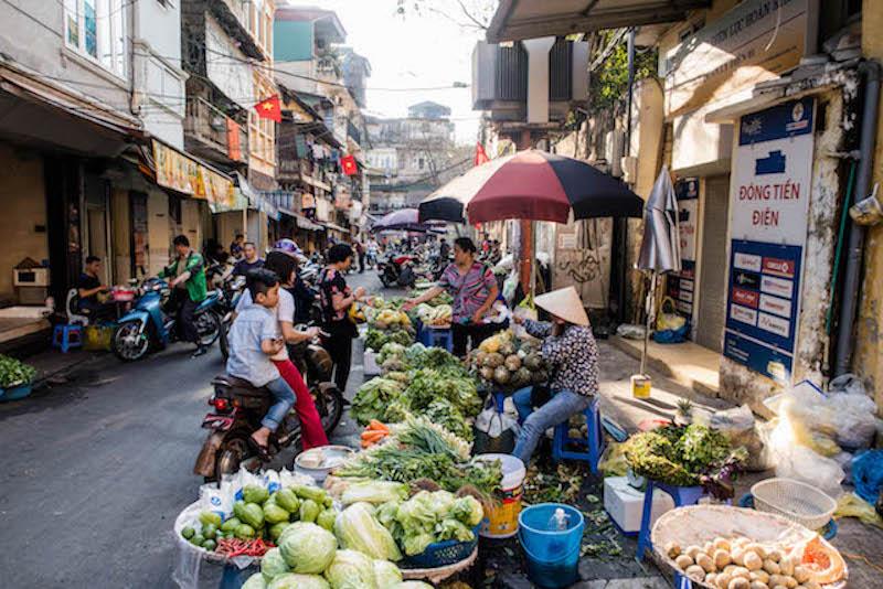 Hanoi Sehenswürdigkeiten in Vietnam, der Markt