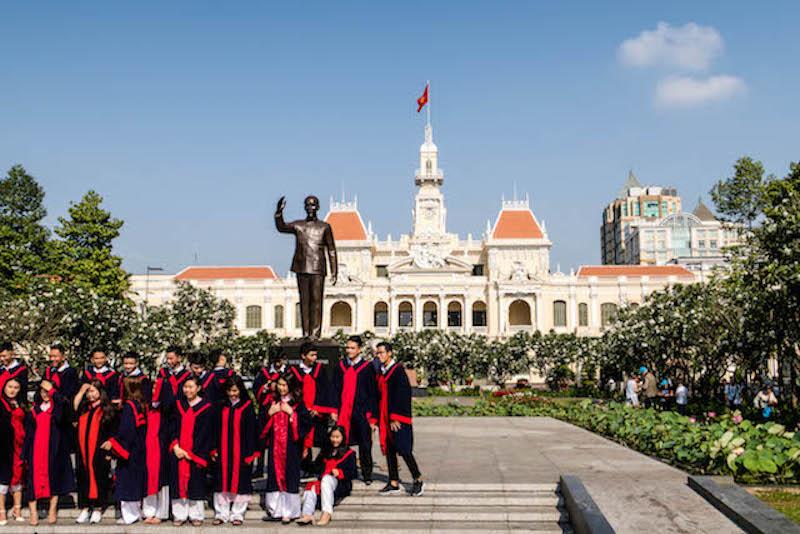 Stadtzentrum von Saigon