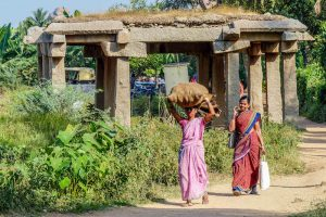 Local women in India
