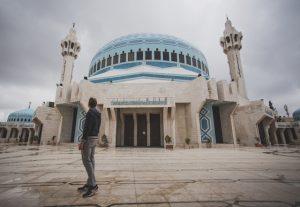 Ich vor der Blauen Moschee Amman