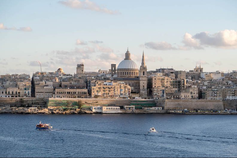 backpacking malta - view of Valletta