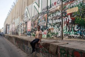 The Separation Wall in Bethlehem with graffiti