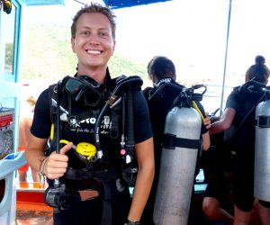 Me ready for diving